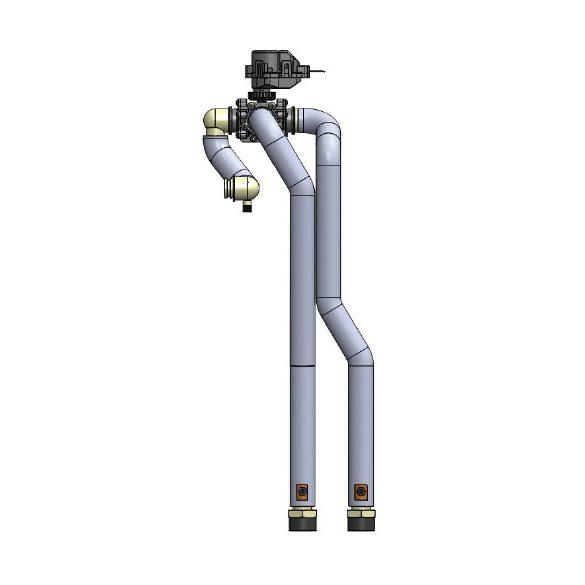 Beltéri egységbe szerelhető 3 járatú szelep (H generációs berendezésekhez)