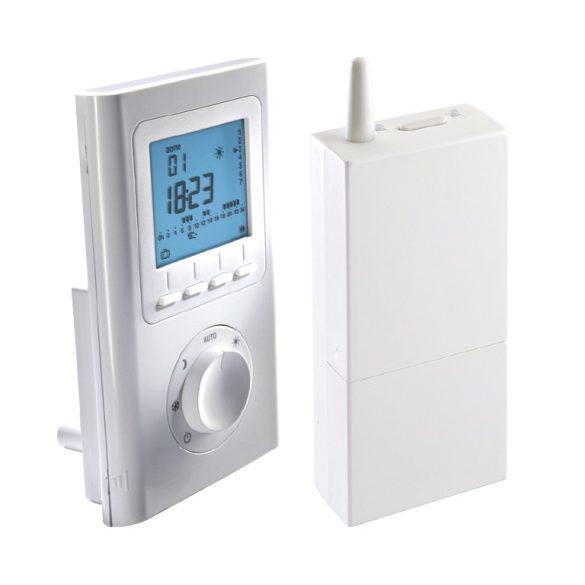 Vezeték nélküli LCD kijelzős szobai termosztát heti időzítővel