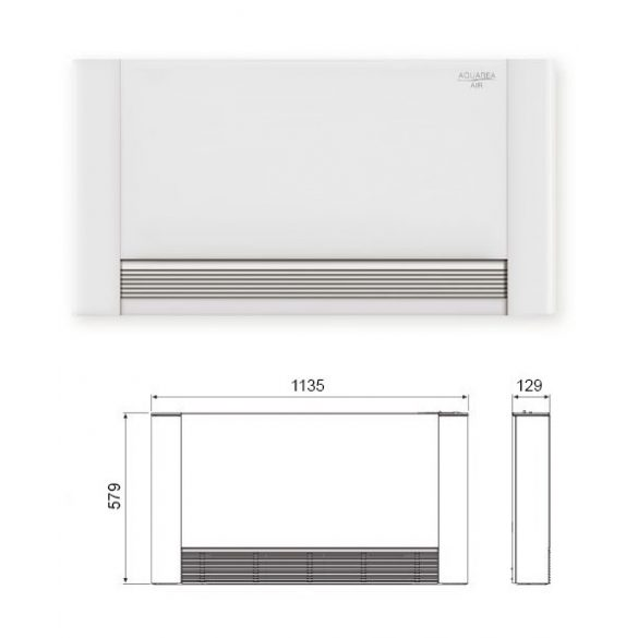 Aquarea Air 900 W-os radiátor